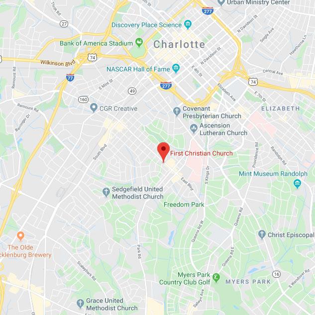 First Christian Church Google Map