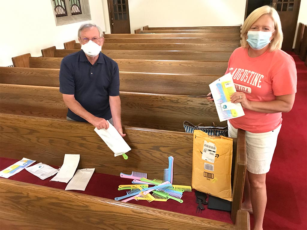 First Christian Church - Give away combs